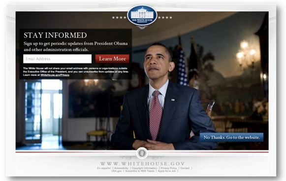 ObamaExample - 4 Design Tips To Improve Conversion & Sales On Your Website